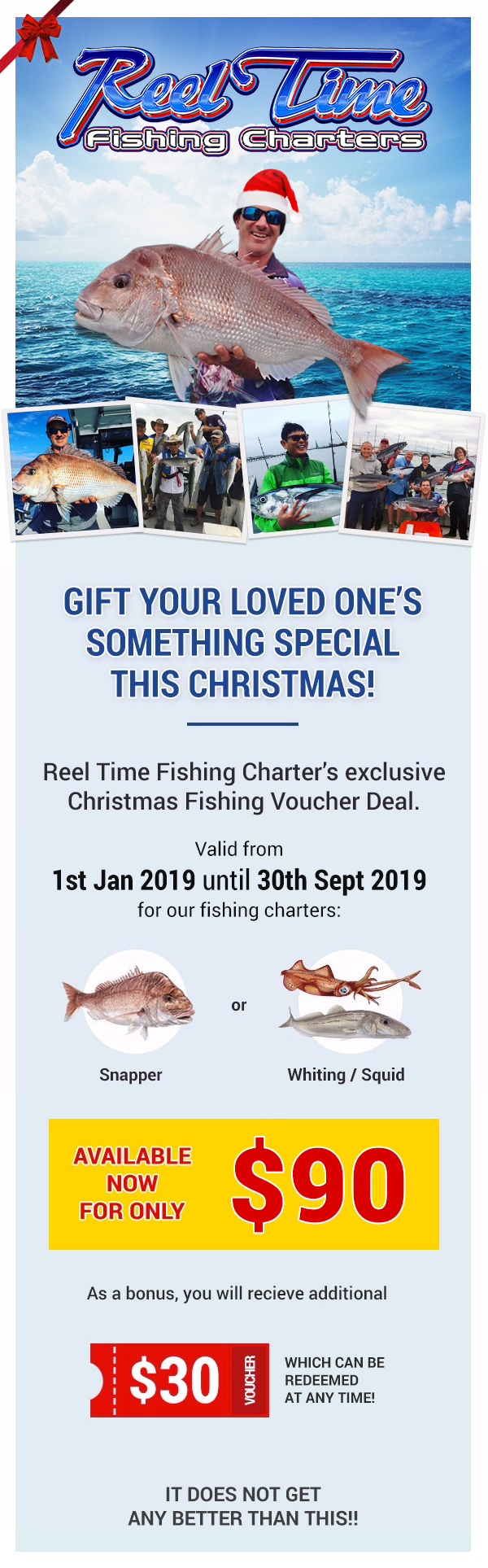 Gift Voucher for Christmas Fishing