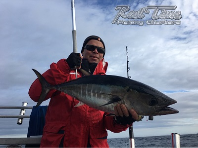 Fishing Charters in Portland Catching Bluefin Tuna