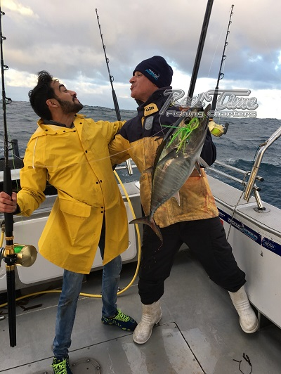 His First Fish a Portland Bluefin Tuna May 2017