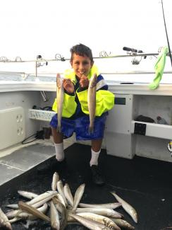 Port Phillip Bay Reel Time Fishing Charters 2016 King George Whiting, Squid, Snapper and Yellow Tail