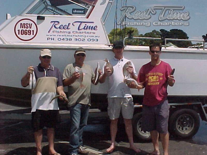 Matt Cini starts Reel Time Fishing Charters in 2005 Snapper Whiting & Sharks
